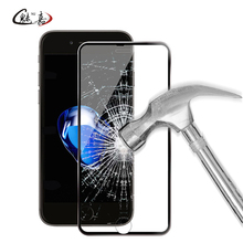 Buy iphone 6 6s 7 8 plus full cover toughened tempered glass film iphone X 9H Premium screen protector protection film for $1.53 in AliExpress store