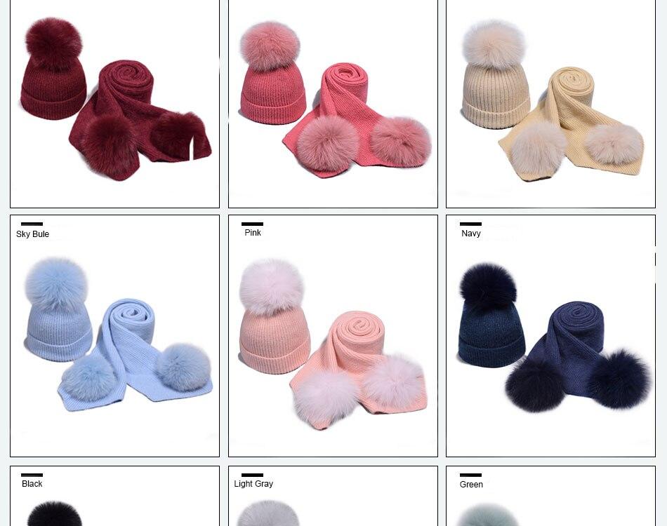 قبعة ووشاح للفتيات 5