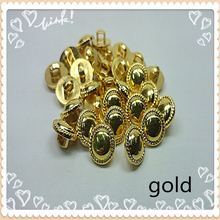 50PCS/LOT 11MM SMALL BUTTON sewing accessories high quality plating GOLD buttons fashion shirt buttons  a79