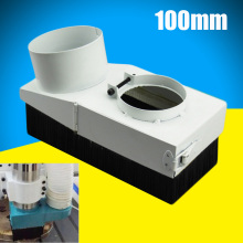 100mm White Spindle Dust Dustproof Shoe Vacuum Cleaner Cover For CNC Router(China)