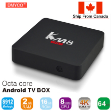 KM8 PRO Android 6.0 TV BOX Amlogic S912 Octa Core 2G/16G KD 17.0 Bluetooth 2.4G/5GHz WIFI 1000M LAN KM8PRO Smart Media Player(China)
