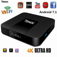 Tanix TX3 Mini Smart TV Box Amlogic S905W 1.5GHz Set-top TV Box 2.4GHz WiFi Android 7.1 2G DDR3 16G 4K HD H.265 Media Player