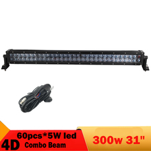 4D 300W LED Light Bar 31 Inch 4X4 4WD SUV Daytime Running Light For Jeep Toyota Golf Wagon Pickup Boat ATV Headlight Fog Lamp(China)