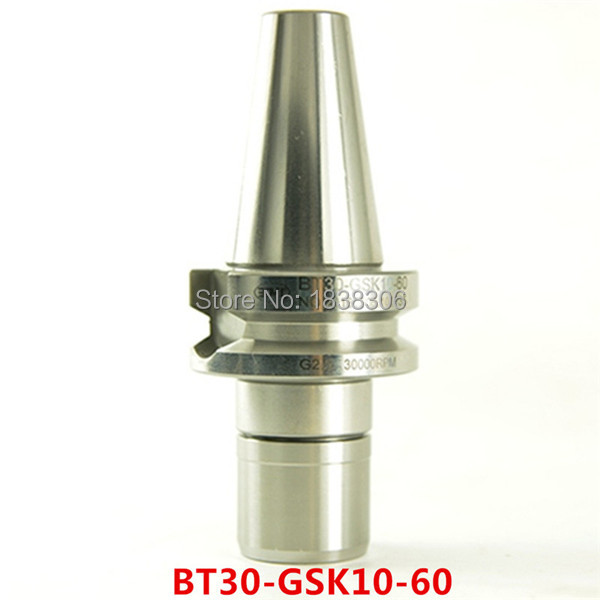 S10 collet chuck cnc BT30  0.002mm Accuracy BT30 GSK10 60L Collet Chuck Tool Holder CNC Milling lathe Tool Holder G2.5 30000RPM<br>