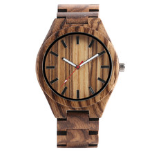 Vintage Men Women Wooden Watch Nature Whole Zebra Lines Wood Case Concise Dial Minimalist Wristwatch Best Business Gifts Clocks(China)