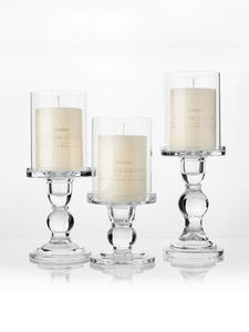 Candle-Holders Candlestick-Set Taper Glass Wedding-Decoration Pillar for 3-3/4-1pc