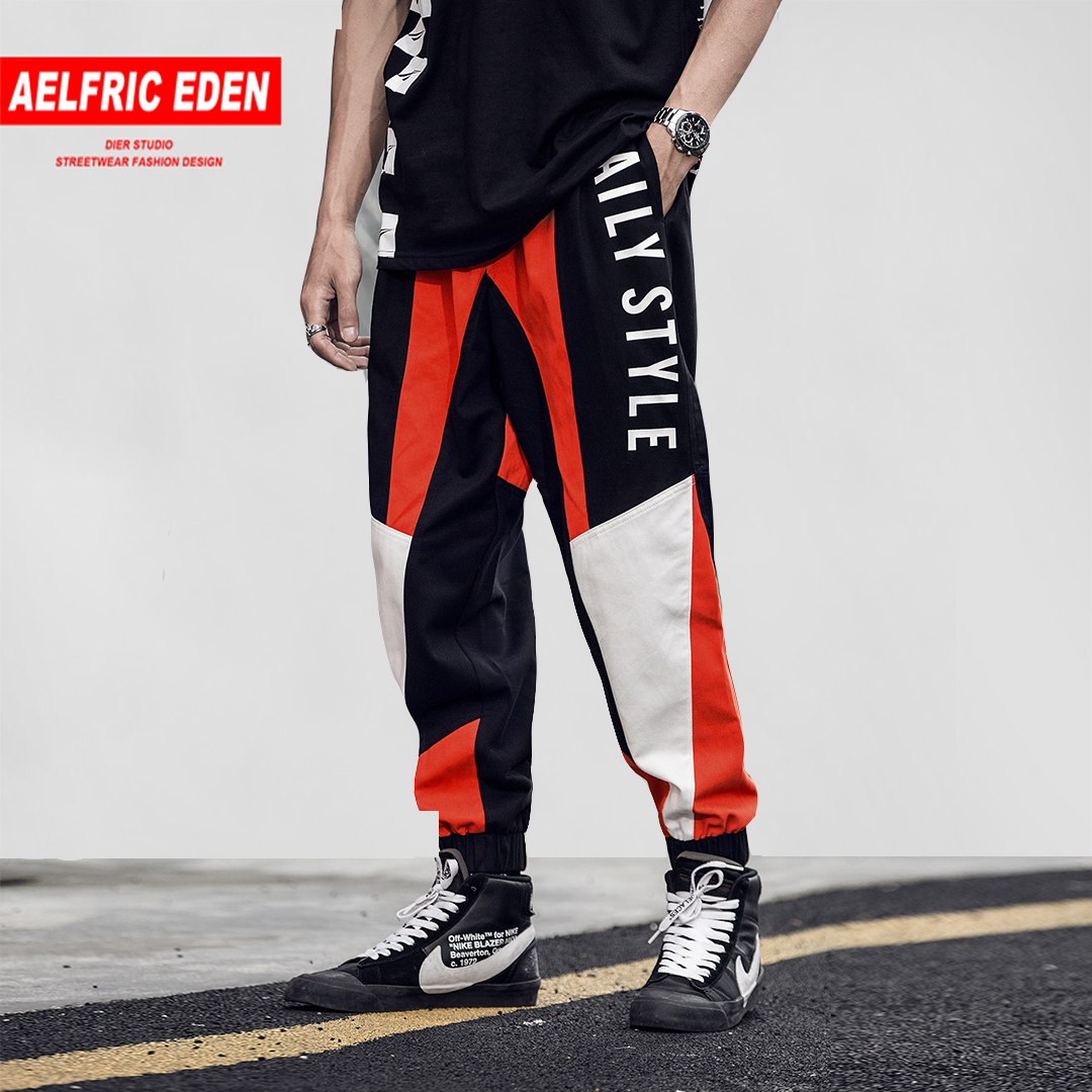 Aelfric Eden Color Block Casual Pants Man Skateboard Joggers Harajuku Streetwear Male Track Sweatpants Fashion Sportswear KJ234