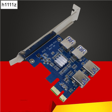 Buy 1 4 PCI-E PCIe Slot USB3.0 4 Port PCI Express 1x Riser Card Adapter Converter Card USB 3.0 Connector BTC Miner Mining for $19.03 in AliExpress store