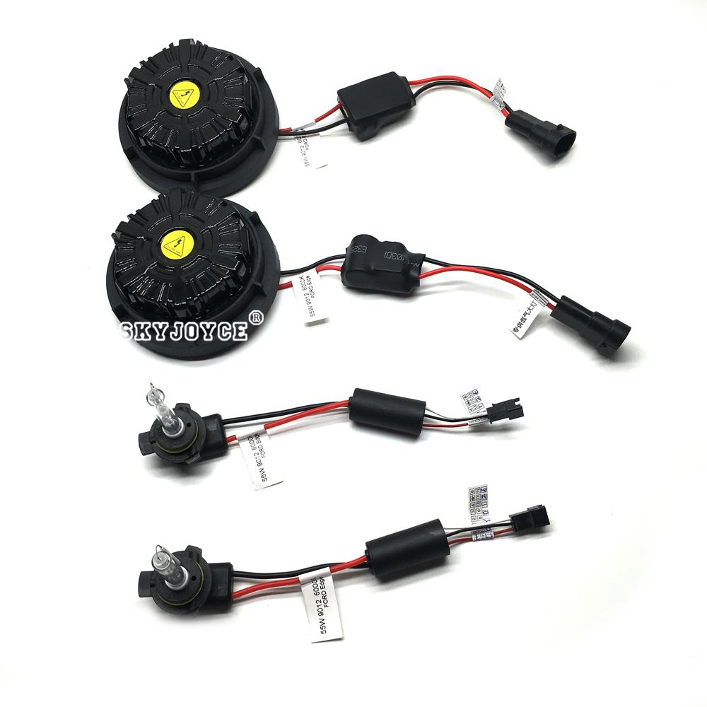 NO Error canbus 55W 9012 hid xenon kit Edge headlight 9012 bi-xenon kit 6000K HIR2 9012 xenon projector bulb brighter than 9012 (6)