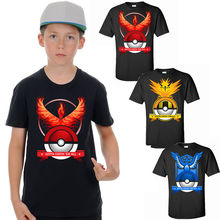 Hot!!New Arrival Summer Kids Boys Poke mon Go Design T-Shirt Short Sleeve Top Tee Shirt Children Clothes 2-7Y(China)