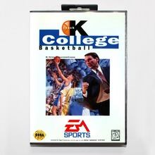 Coach K College Basketball Game Cartridge 16 bit MD Game Card With Retail Box For Sega Mega Drive For Genesis