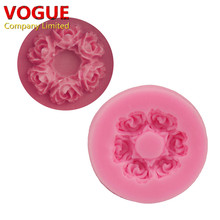 Cute 3.7*0.7CM Rose flower Shape 3D Silicone mold soap chocolate mould for kitchen baking clay DIY cake Decorating tools N1784(China)