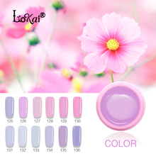 Lokai Newest Pink Color Nail Polish UV Led Long Lasting Nail Gel Polish DIY Nail Art Gel Lacquer Professional UV Gel Nail(China)