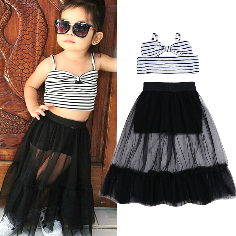 US 2019 Toddler Baby Girl Kids LOVE Sleeveless Short Dress Summer Sundress Skirt
