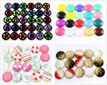 New 20pcs/Lot 16mm Mixed Four Style Handmade Photo Glass Cabochons Pattern Domed Jewelry Accessories Supplies(China)