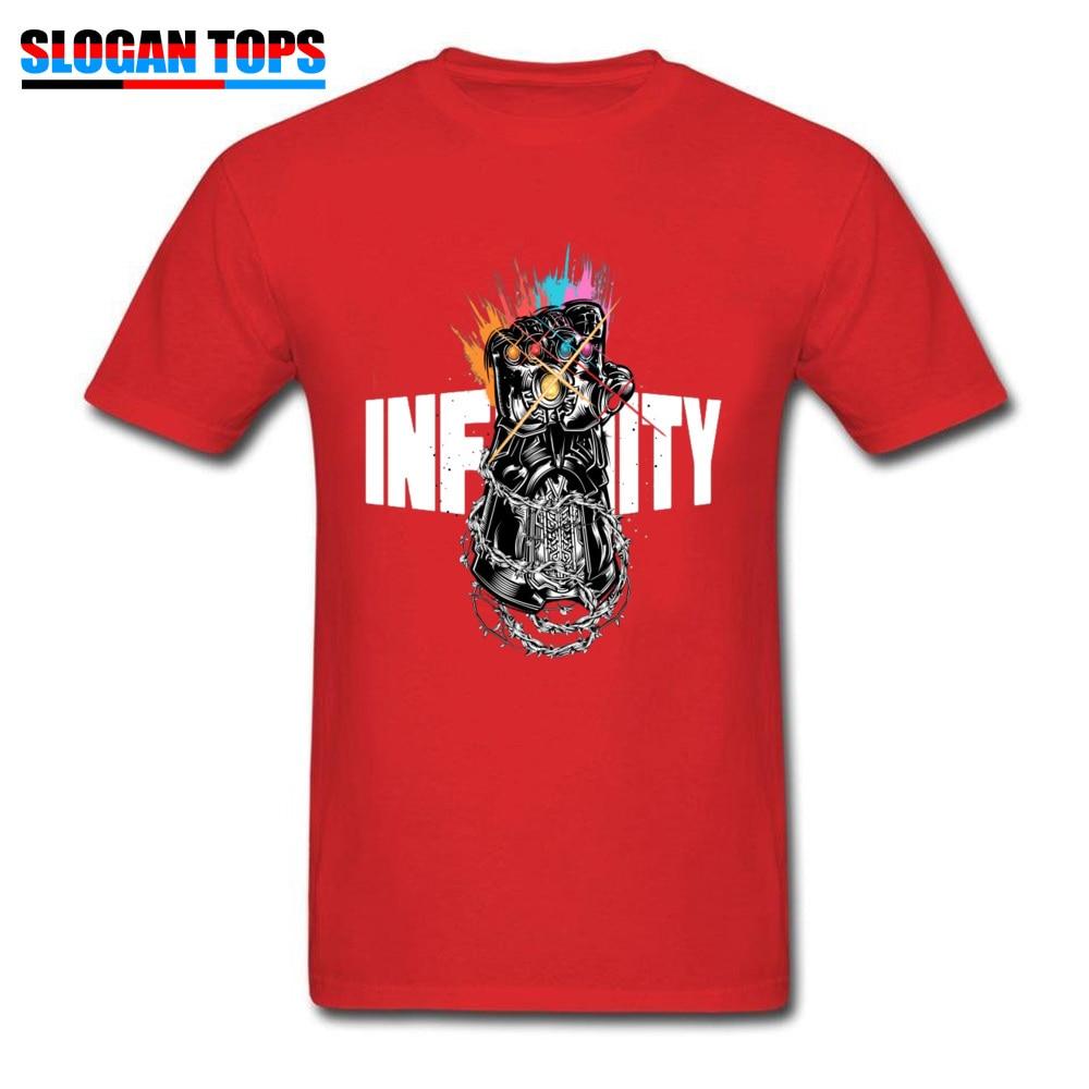 Men Unique T-Shirt Short Sleeve Cotton Rocky Graphic Tee Galaxy Infinity Thai