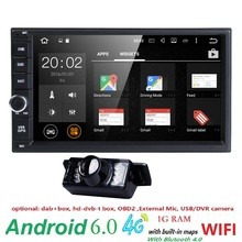 "2 din Android 6.0 Car DVD Player 7""1024*600 Universal For Nissan vw GPS Navigation BT autoradio Stereo Audio head unit 3G WIFI(China)"
