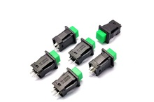 10Pcs/Set DDS-431 Non-locking Round Switch Button 1A/250VAC Light Switch DIY Touch Switch green