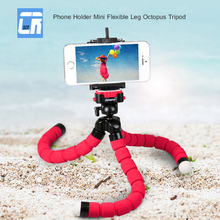 DCR Hot Universal Car Phone Stand Camera Phone Holder Mini Portable Flexible Octopus Tripod Bracket Stand Table Desktop Stent