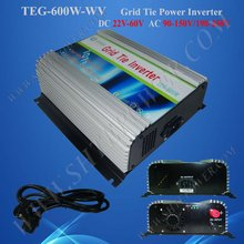 Grid Tie Solar Power Inverter 600W DC 22V-60V to AC 120V Solar Cell System