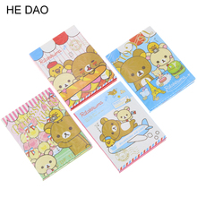 Kawaii Rilakkuma 4 Folding Memo Notepad Note Book Memo Pad Sticky Notes Memo Set Gift Stationery KCS(China)