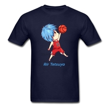 Slim Causual Tee Shirts Factory men Tetsuya X Michael Jordan Tops with Crossover Kuroko Mens Customize T Shirt Best Choice(China)