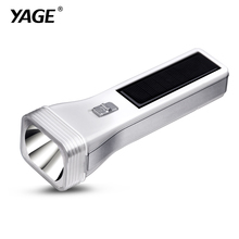 YAGE-3895/3897 LED Solar light Engergy Charging Rechargable Portable Torch Light 2-mode Lanterna Led Linterna Lampe Torche(China)