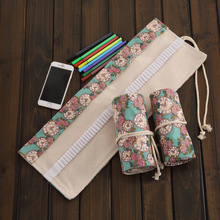 36/48/72 Holes Rose clock Pencil Case Pen Pouch Painting Drawing Storage pencil bag Vintage Stationery office School supplies