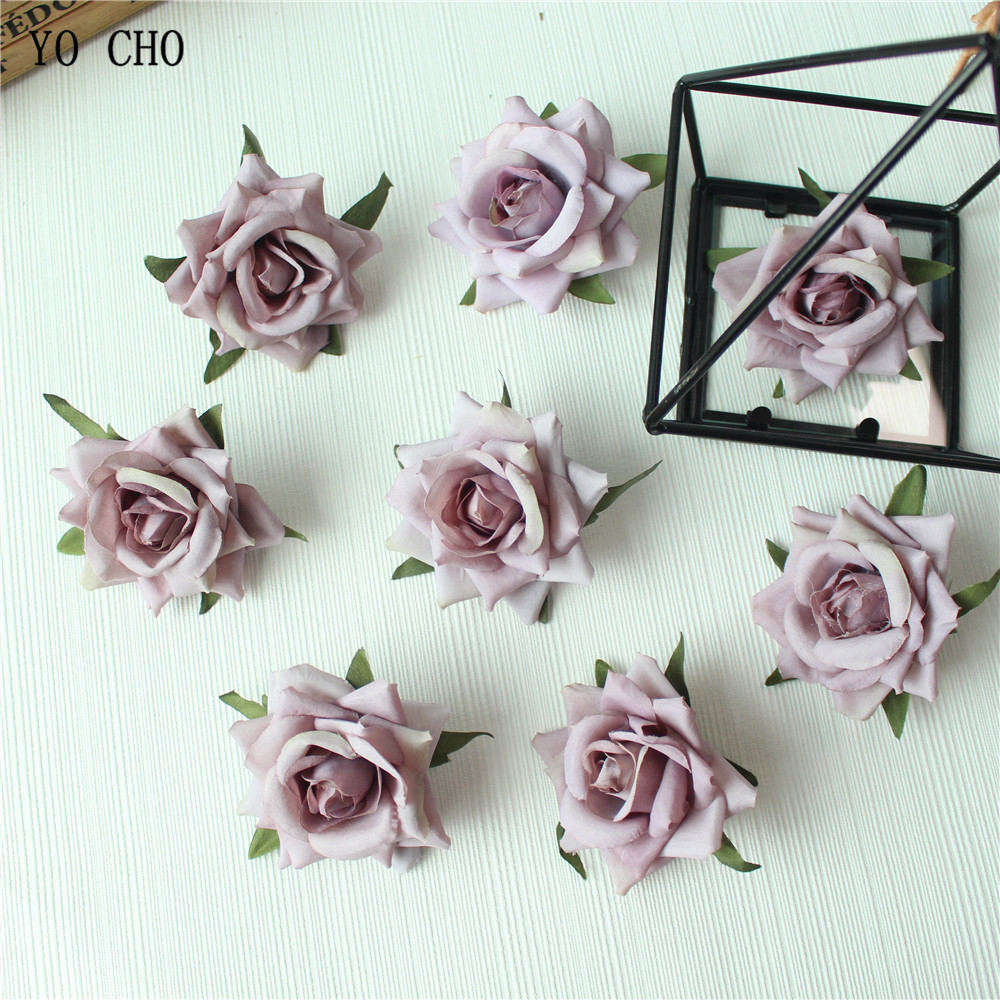 Rose Artificial Flower Head White Pink Silk Peony Wedding Party Decoration DIY Decorative Fake Flower  (40)