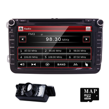 2 Din 8 inch car dvd GPS for VW Polo Jetta Tiguan passat b6 cc fabia Bluetooth Radio CD in dash steering wheel RDS DAB+ REAR CAM(China)