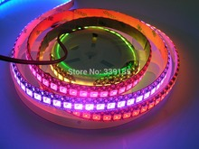 WS2811 WS2812 2812b led digital strip light;144leds/m with 144pcs WS2811 IC built-in,2M/roll,DC5V,Black PCB,Waterproof IP65