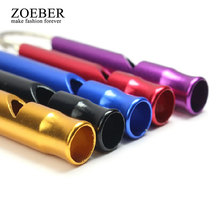Zoeber Super New Symbol Whistle Keychain women toys cute Cartoon keyholder Sport Safety Rape Whistle Key Ring Outdoor Survival(China)