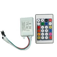 Free shipping C3 1x24Key DC12V IR Remote Controller WS2812B Contoller WS2811 200 Change Max 1-512 Pixel LED Controller(China)
