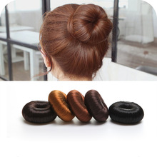 2017 1PC Plate Hair Donut Bun Maker Magic Foam Sponge Hair Styling Tools Princess Hairstyle Hair Accessories Elastic Hair Bands