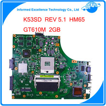 for Asus K53SD REV 5.1 laptop motherboard 60-N3EMB1300-025 Non-Integrated Graphics GT610M 2GB 100% tested(China (Mainland))
