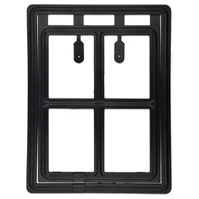 2016 High Quality Lockable Pet  Cat Flap Door Dog Cat Kitty safety Lock Door Black- Large
