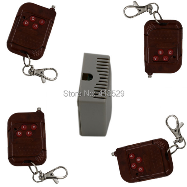 4CH wireless remote control switch, system for electronic door window transmitter and receiver SKU: 5024<br><br>Aliexpress