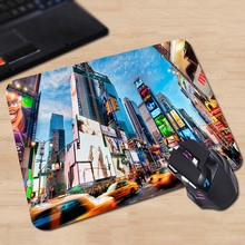 times square new york Best Sales Durable Soft Mouse Pad Fashion 180x220x2mm 250x290x2mm Mice