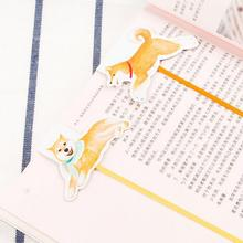My Dear Home Pet Dog Kawaii Cartoon Bookmarks Self-Adhesive Sticky Notes Bookmark Promotional Gift Stationery(China)