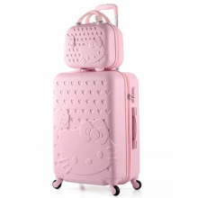 14+20 Inch Hello Kitty Suitcase,Spinner Rolling Luggage,Suitcases on wheels,Trolley Luggage Set,Travel bags,hello kitty luggage(China)