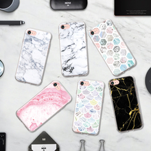 Fashion Popular Classic Marble Pattern TPU Phone Case for Iphone 4 4S 5 5S 5C SE 6 6S 6 6S Plus 7 7Plus Silicone Case Soft Shell
