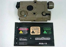 Tactical battery box holder PEQ 15 Style Airsoft RIS Battery Case Box Tan(China)