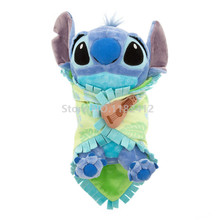 Lilo and Stitch Plush Toys Babies Stitch With Blanket Appease Towel Cute Stuffed Animals 30CM 12'' Baby Kids Toys for Children