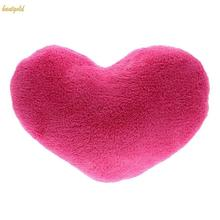 Soft Love Heart Shape Fluffy Throw Cushions Pillows Block Gift for Lover 40*30cm