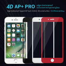 "Explosion-Proof 0.23mm 9H 4D FULL COVER Tempered Glass Screen Protector Film for Apple iPhone 7 6 6s Plus 6plus 4.7"" 5.5"" inch"