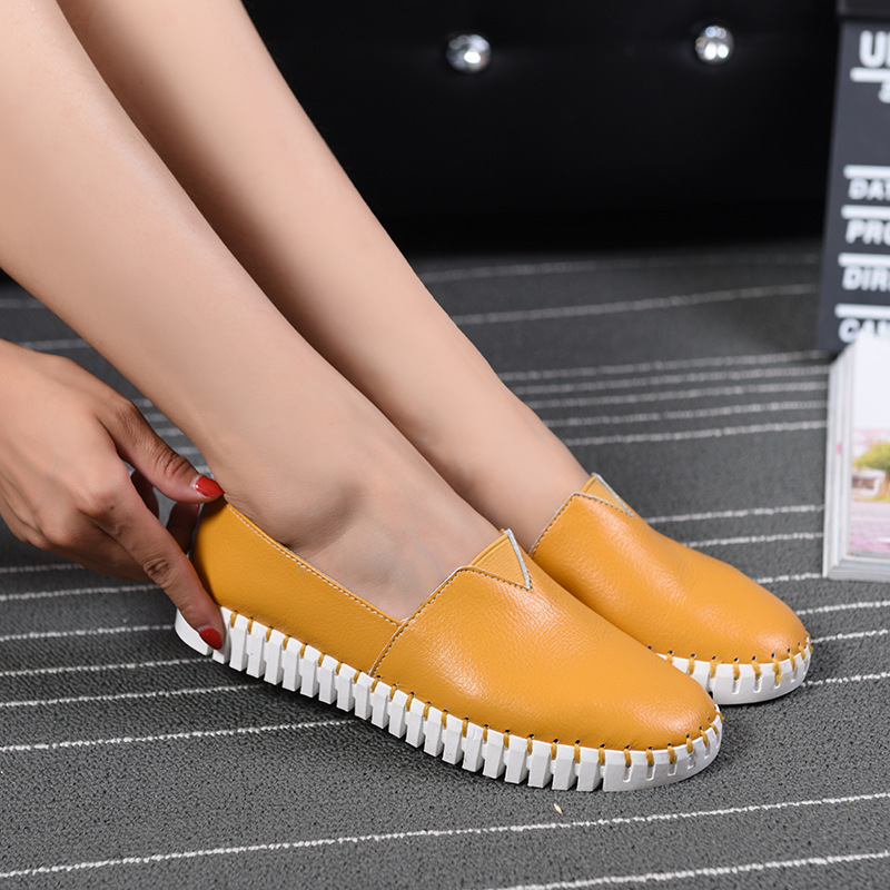 Women Loafers Shoes Leather Casual Flat Shoes Woman 2016 Brand Fashion Female White Comfortable Shoes Ladies Flats shoes 5089A<br><br>Aliexpress