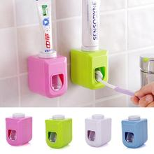 Bathroom Set Wall Mount Rack Bath set Automatic Toothpaste Dispenser +Toothbrush Holder