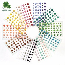 (50 sheets/lot) 54pcs round assorted size self adhesive enamel dots for scrapbooking(China)