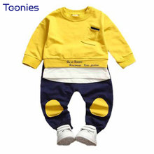 2pcs Boys Sports Wear Children Clothing Set Spring Autumn Boy Suit Baby Long Sleeve Suits 1-6 Year Old Kid Clothes 2017 Hot Sale