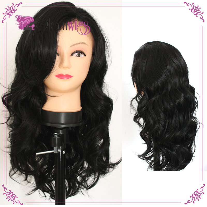 Big Body Wave Black Wig Lace Front Synthetic Wigs with Baby Hair Heat Resitant Glueless Wigs for Women<br><br>Aliexpress